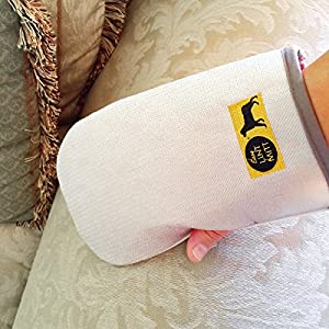 Reusable Lint and Pet Hair Removal Mitts - Best for Clothes, Car Seats, Sofas and Carpets. Brush away Cat and Dog Shedding. Gently Groom and Pamper your Pets. Washable and Durable. Pack of 2 - Makes A Great Gift.