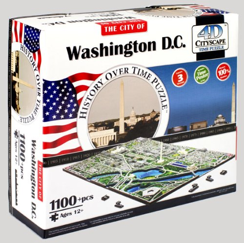 Cheap 4D Cityscape 4D Washington DC Skyline Time Puzzle (B0041O40ES)
