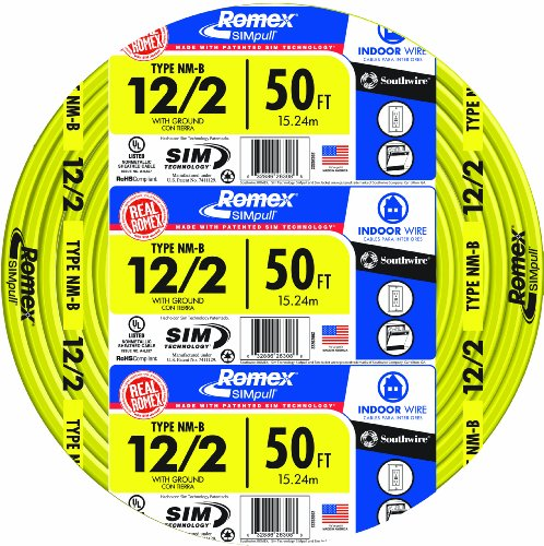 Southwire 28828222 12/2WG NMB Wire 50-Foot (12 2 Romex compare prices)