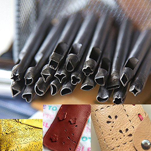 Great Value Leather Tools 20Pcs 5Mm Diy Leather Working Punches Making Tools Crafttool Leathercraft Stamps