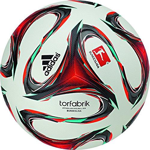 adidas Fußball Torfabrik Bundesliga Spielball 2014/2015, Wht/Infred/Vivmin, 5, F93564