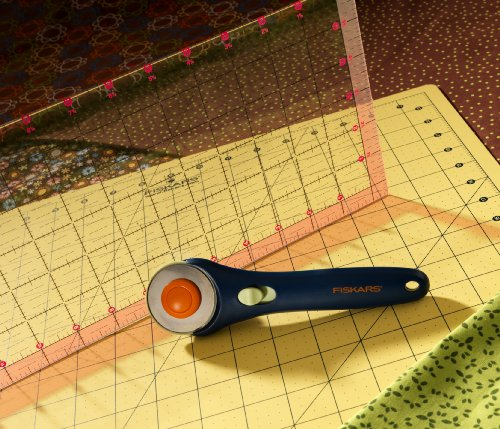 Quilting Slider Mat: NEW Fiskars Brand Rotary Cutter, Clear Acrylic Ruler