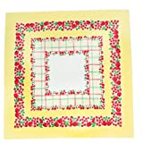 Moda Tootie Fruity Tablecloth Yellow Red 54 Inch