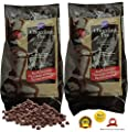 Paksh / Wilton Dark Milk Chocolate Wafers | Pro Fountain & Fondue Chocolate Candy Melts | 2 lb per Bag [2 pack]