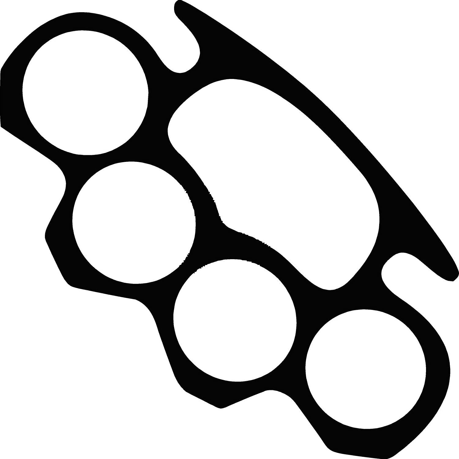 Brass knuckles outline pictures to pin on pinterest for Brass knuckles template