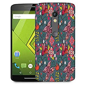Snoogg Multicolor Butterfly Designer Protective Phone Back Case Cover For Moto G 3rd Generation
