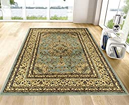 Ottomanson Royal Collection New Traditional Oriental Medallion Design Area Rug, 60\