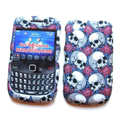 BlackBerry Curve 3G 9300 (T-Mobile) & Gemini Curve 8520 & 8530 Rubberized Snap-On Protector Hard Case Image Cover
