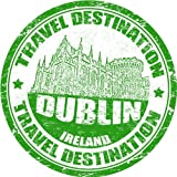 "Dublin Ireland Travel Destination Stamp Bumper Sticker Decal 5""x 5"""