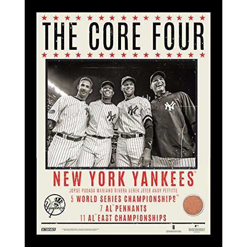 Derek Jeter, Andy Pettitte, Jorge Posada & Mariano Rivera Framed 'Core Four Accomplishments' 16X20 Photo front-1040824
