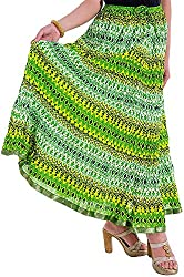 Ceil Women's Cotton Skirt (Green)