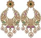 Violet & Purple Gold Plated Dangle & Drop Earrings For Women (1000031149)