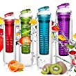 800ml Trinkflasche f�r Fruchtschorlen / Gem�seschorlen in den Farben Gr�n, Lila, Blau und Rot. Perfekte Sportflasche aus sp�lmaschinenfesten Tritan-Material mit extra-easy Trinkverschluss / blau