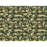 """Camouflage Icing Sheets - Camo Pattern Edible Cake Topper - Edible Icing - 8"""" x 10"""" (A Green Army)"""