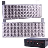 44 x Ultra Bright Amber LED Emergency Warning Use Flashing Strobe Lights Bar For Windshield Dash Grille