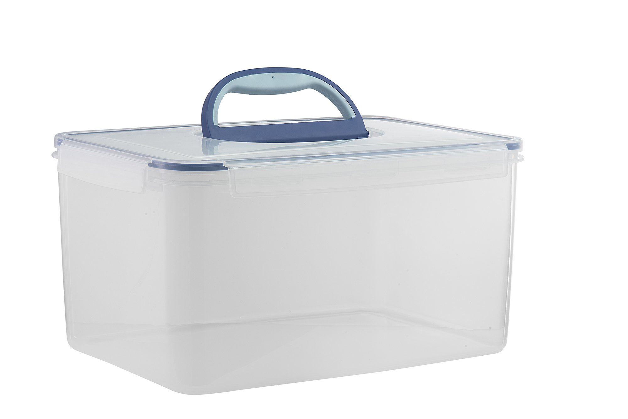 Big size food storage container airtight with handle large for Tall shipping container