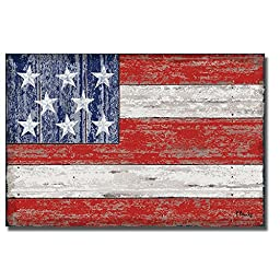 American Flag by Paul Brent Premium Gallery-Wrapped Canvas Giclee Art (Ready-to-Hang)