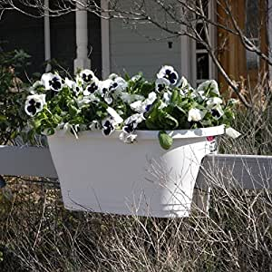 corsica oval flower bridge planter color white patio lawn garden. Black Bedroom Furniture Sets. Home Design Ideas