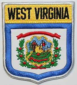state of west virginia shield flag embroidered applique patch