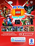 Sony Playstation PS Vita Memory Card 8GB with 6 Game Lego Mega Pack