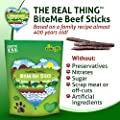 The Real Thing BiteMe Beef Sticks. All Natural Gourmet Dog Jerky. Made in USA!