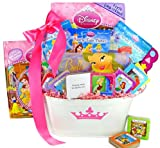 Disney Princess Book Basket - Baby Shower or Easter Gift Idea for Girls or Toddler's One Year Birthday