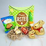 Lindt Chocolate Easter Treat Box - Bunnies, Lindt Lindor Egg, Carrot and Bunny Paw - By Moreton Gifts