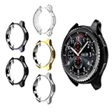 5 Pack Case for Samsung Galaxy Watch 42mm, Haojavo Soft TPU Plated Protective Bumper Shell Protector for Samsung Galaxy Watch 42mm Smartwatch Bands Accessories (Color: 5 PACK, Tamaño: 42 mm)