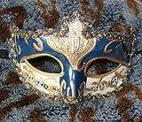 【今日から 貴族 の仲間入り】ベネチアン マスク マスケラ カーニバル 仮面 舞踏会 仮装 変装 (青)