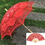 Artwedding Handmade Folding Hand Fan...