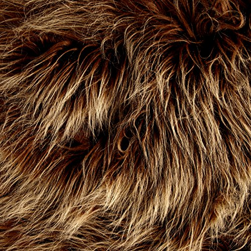 Faux Fur Monster Amber Frost Fabric