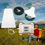 Signal Booster, Dual Band Cellular Signal Repeater Booster Amplifier CDMA 850/1900MHz 2G/3G/4G Dual Band Dual LCD Display Mobile Phone(US Stock)