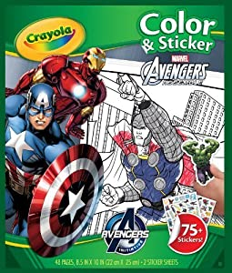 Crayola Avengers Color 'n Sticker Books (4-Pack)