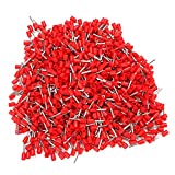 Red 16AWG E1008 Copper Insulated Cord End Terminals Pack Of 1000
