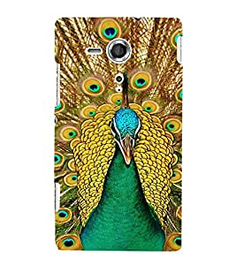 EPICCASE Breath taking peacock Mobile Back Case Cover For Sony Xperia SP (Designer Case)