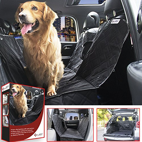 E-JOY Universal Waterproof Non Slip Dog Car Seat Cover, Large(58 X 55-Inch), Black (Airplane Car Seat Cover compare prices)