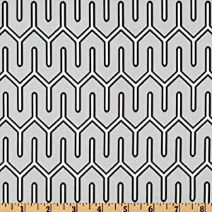 54'' Wide Dwell Studio Maze Work Dove Fabric By The Yard