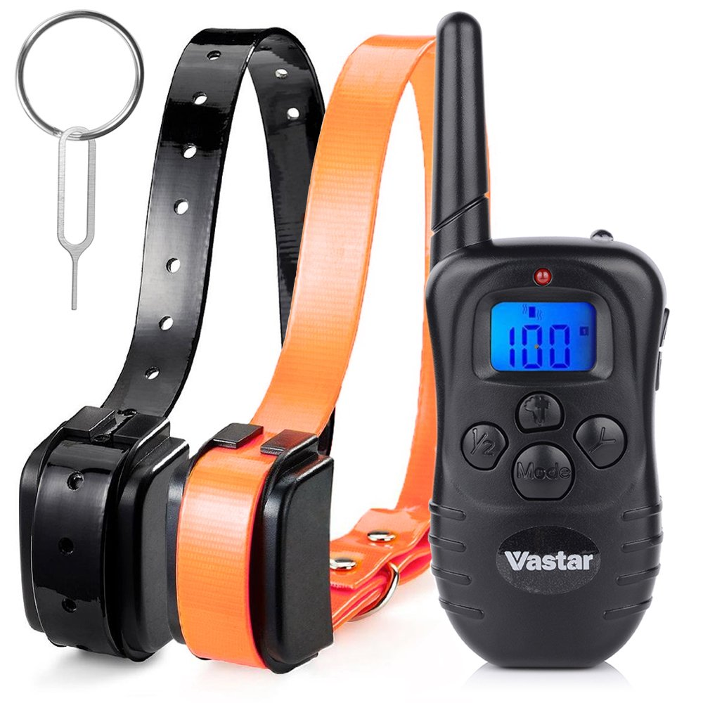 Vastar Rechargeable Training Collar with Remote, Black