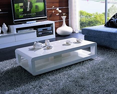 5001C White Lacquer Coffee Table