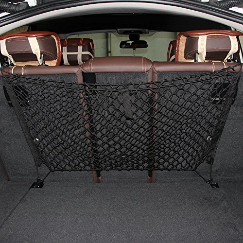 etopmia Mesh Vehicle Organizer Premium Quality Sturdy Black Net Item Trunk Cargo Car Organizer (Volkswagen Cargo Cover compare prices)