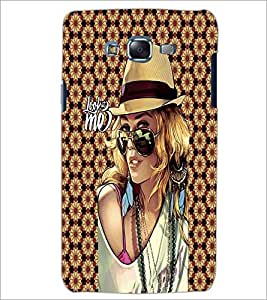 PrintDhaba Hat Girl D-4575 Back Case Cover for SAMSUNG GALAXY ON 5 (Multi-Coloured)