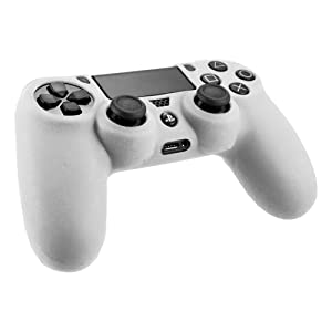 [2 Pack] SlickBlue Flexible Silicone Protective Skin Case For Sony PS4 Game Controller - White [PlayStation 4] (Color: 2-Pack-White)