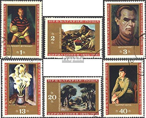 Bulgarien 2129-2134 (kompl.Ausg.) gestempelt 1971 75. Geburtstag Maler Kiril Conev (Briefmarken für Sammler)