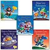 Claire Freedman Alien and Dinosaur Love Collection Claire Freedman and Ben Cort 5 Books Set.((Aliens in Underpants Save the World, Dinosaurs Love Underpants, Aliens Love Panta Claus, Aliens Love Underpants! & [Hardcover]Pirates Love Underpants)