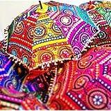 Real Online Seller Marudhara Fashion Indian Handmade Designer Cotton Fashion Multi Colored Umbrella Embroidery Boho Umbrellas Parasol 10 Pcs Lot (Color: Multi, Tamaño: 24 Inch)