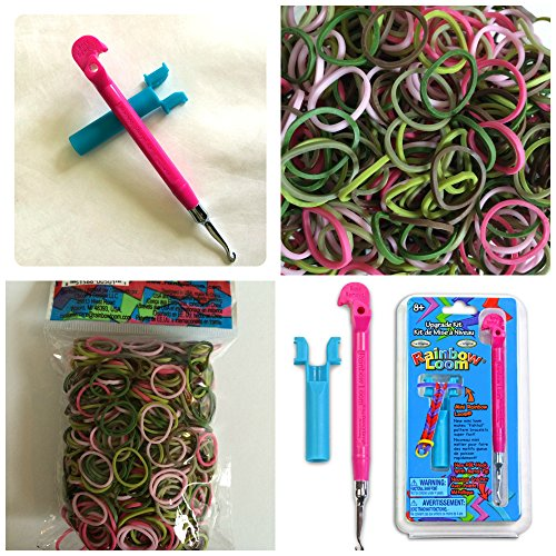 Official Rainbow Loom Pink Metal Loom Bonus Kit w/ 600 Pink Camo Bands