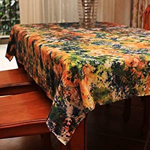 Amazon Com Ustide Handmade Tie Dye Cloth Tablecloth