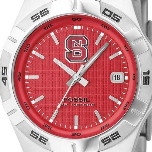 Fossil North Carolina State Wolfpack Men's 3 Hand Date Watch