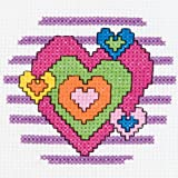 Bucilla 45457 My 1st Stitch Counted Mini Cross Stitch Kit, Heart