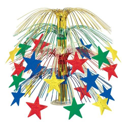 Beistle 1-Pack Star Cascade Centerpiece, 18-Inch, Multicolor